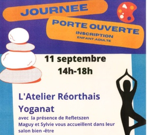 Portes ouvertes Atelier Réorthais, YogaNat et RefletsZen