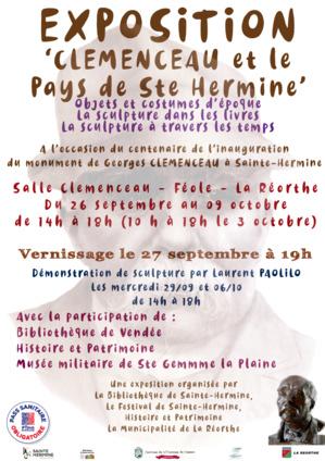"""2 octobre 2021 : """" Les 100 ans de l'inauguration du monument Clemenceau à Sainte-Hermine"""""""