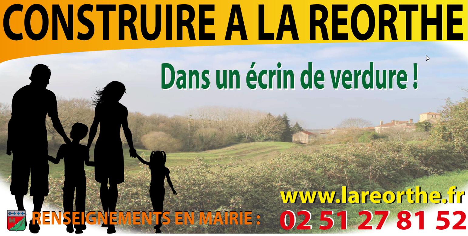 NOUVEAU LOTISSEMENT A LA REORTHE: LE VALLON DE LA CHARBONNIERE
